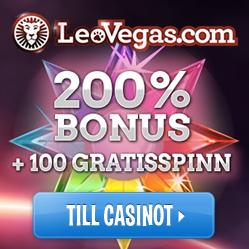 Casino bonus hos online casinot Leo Vegas