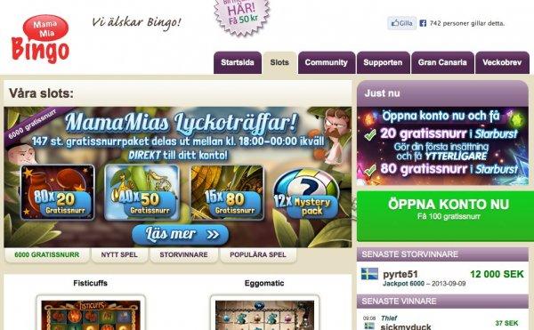 Mamma Mia erbjuder online casino!