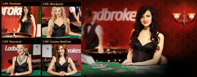 Experience Live casino with Ladbrokes