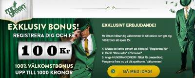 No deposit bonus hos online casinot MrGreen