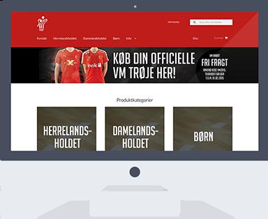 Desktop hjemmeside