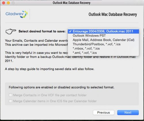Recover Outlook 2015 / 2016 Data | Outlook Mac Database
