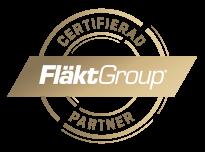 Vi är stolta certifierade partners till FläktGroup.