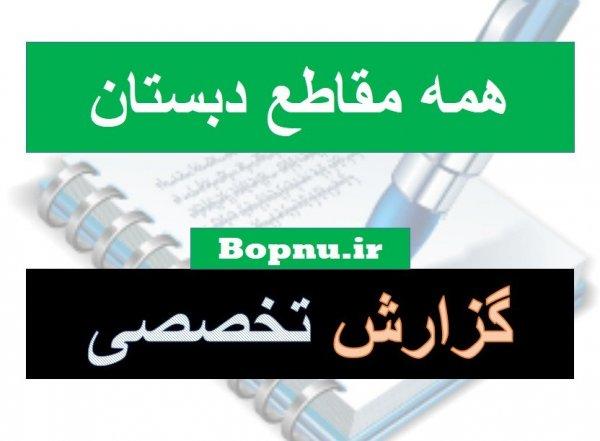 گزارش تخصصی معلمان ابتدایی و دبستان
