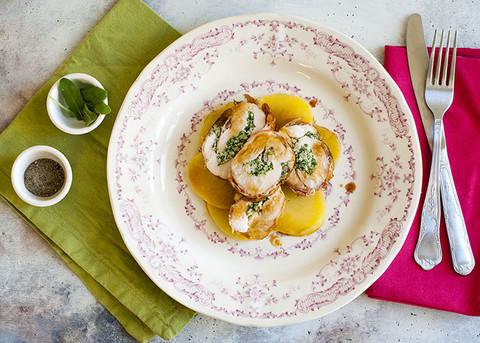 Semplice non vuol dire banale: arrosto di pollo ripieno di spinaci