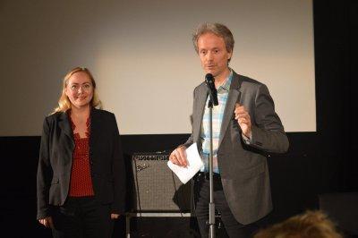 Vid kvällens framträdande i Vilnius så läste fd svenska ambassadören Stefan Eriksson mina texter på belarusiska.
