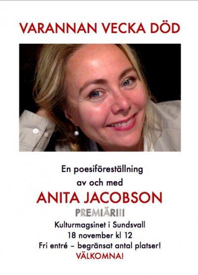 Anita Jacobson Varannan vecka död