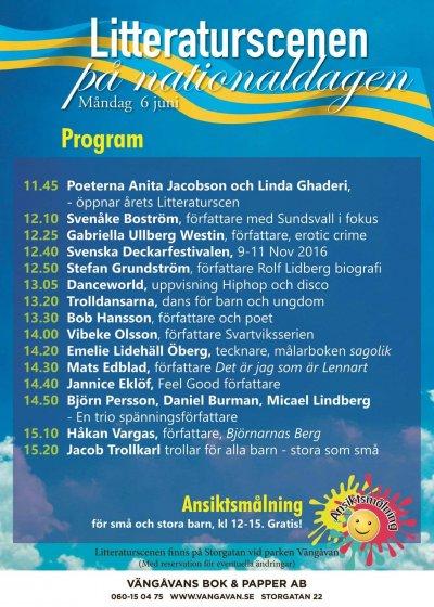 Litteraturscenen Sundsvall Nationaldagn