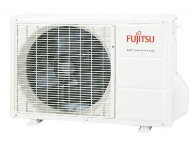 Utedelen på en luft/luftvärmepump från Fujitsu.