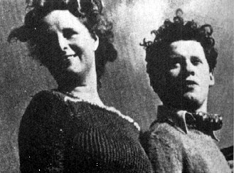 Dylan Thomas and his wife Caitlin