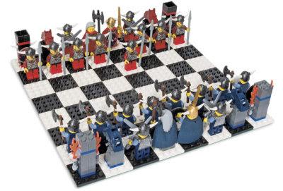 Schackspel: Vikingar i LEGO