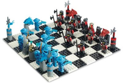 Schackspel: Riddare i LEGO