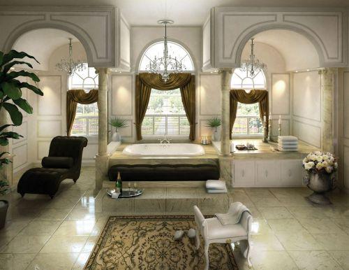 kristallkronor i badrumstaket