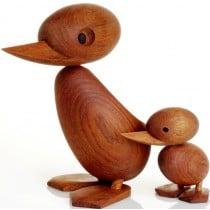 Architectmade Duck + Duckling - träfigur