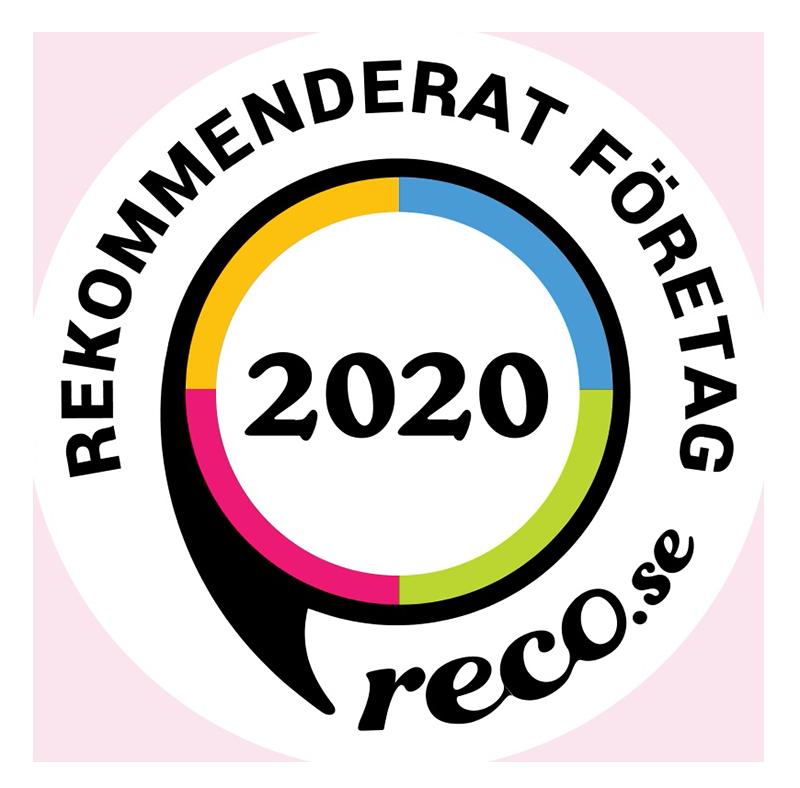 Rekommenderad av reco.se 2020