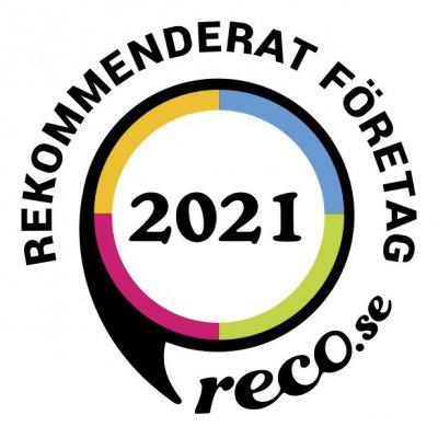 Vi är ett rekommenderat företag 2021 på reco.se