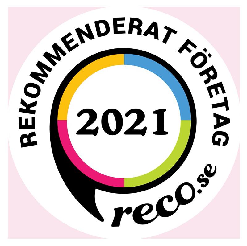 Rekommenderad av reco.se 2021.