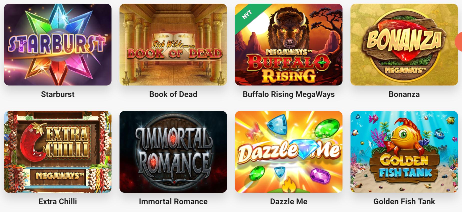 Find populære spil hos LeoVegas