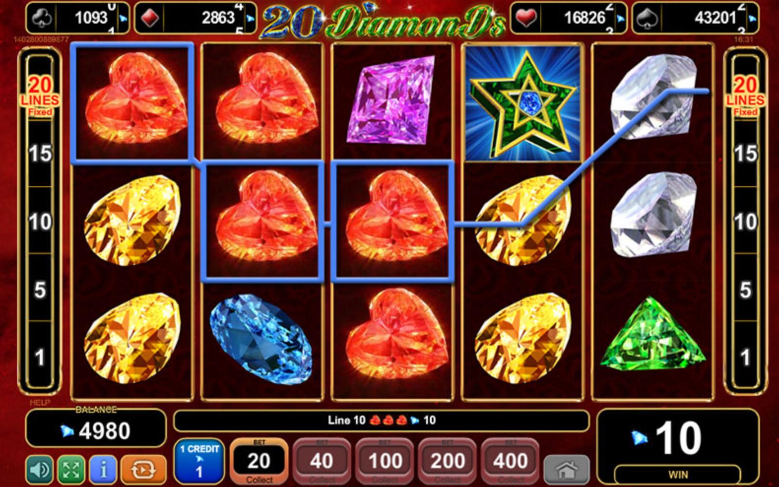 Nye spillemaskiner fra Diamonds