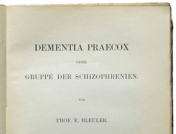 Schizoprenia bleuer
