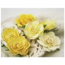 Trellis Roses Lemon Cream