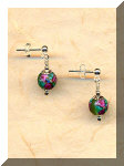 Single Beaded Swarovski & Czech Earrings w/ Silver