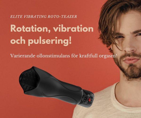 Bra sexleksak för män - Elite Vibrating Roto-Teazer