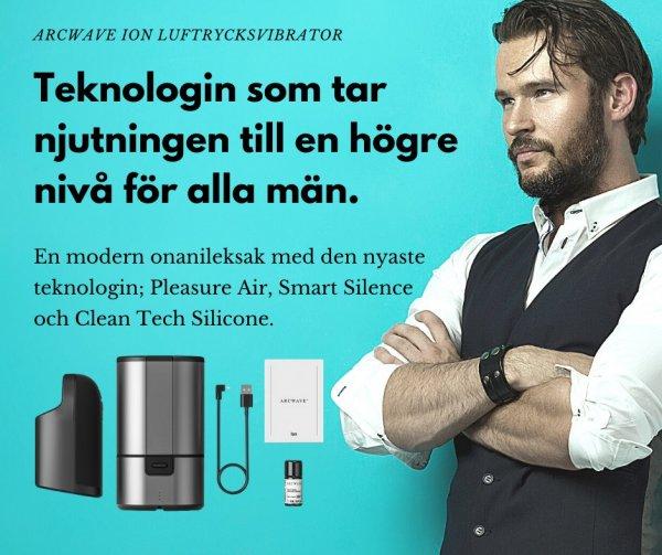 Onanileksak för män med teknologin Pleasure Air.