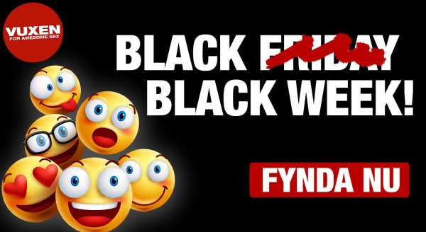 Black friday hos Vuxen!