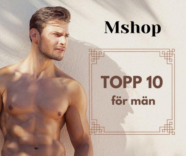 Sexleksaker tio-i-topp män.