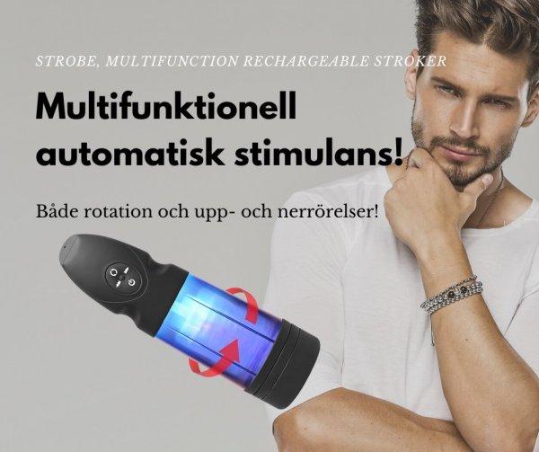 Bra sexleksak för män - Strobe, Multifunction Rechargeable Stroker