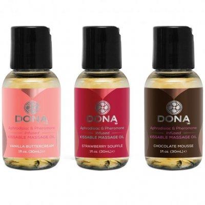 Massagekit med sköna oljor.