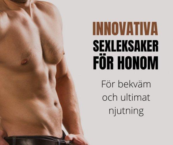 Innovativa sexleksaker för män.