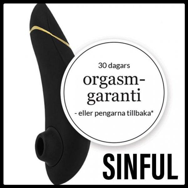 Få orgasmgaranti vid köp av Womanizer.