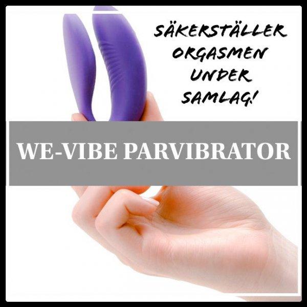We-Vibe parvibrator säkerställer orgasmen under samlag.