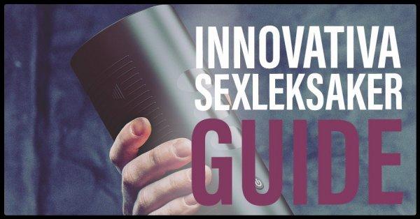 Moderna sexleksaker för män.