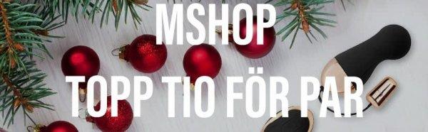 Topp tio sexleksaker för par hos Mshop.