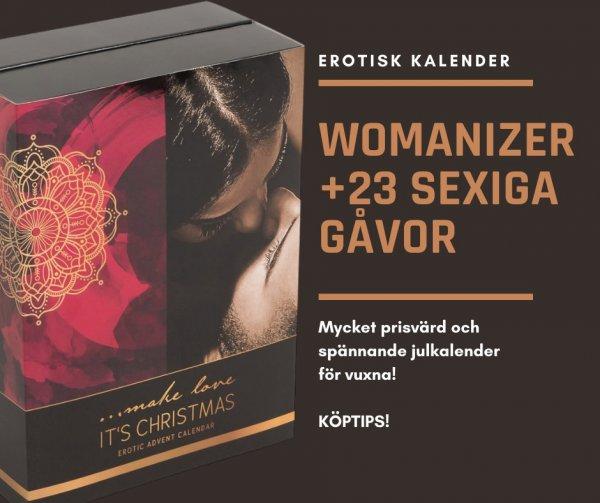 Erotisk kalender som innehåller Womanizer.