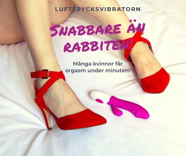 Lufttrycksvibratorn ger snabba orgasmer. Snabbare än Rabbiten!