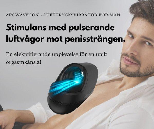 Lufftrycksvibrator för manlig njutning!