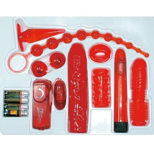 Variationsrikt kit med sexleksaker