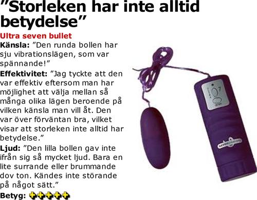 Recension av Ultra Seven Bullet