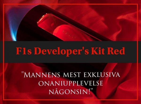 F1s Developers kit red - manliga motsvarigheten till kvinnans lufttrycksvibrator.
