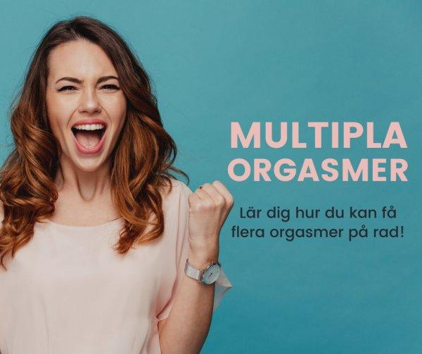 Multipla orgasmer för kvinnor.