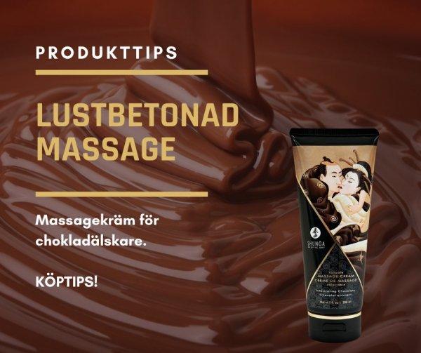 Massagekräm för chokladälskare.