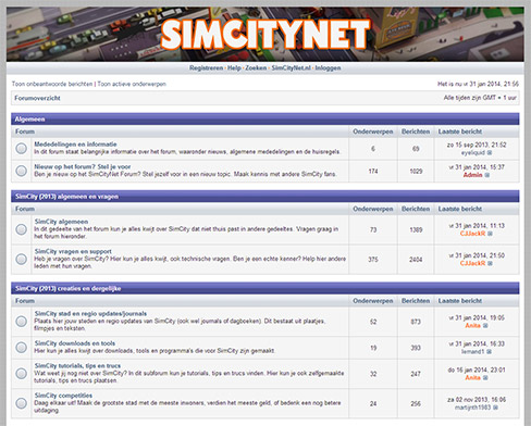 SimCityNet Forum