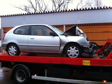 Skrota krockad bil försäkring