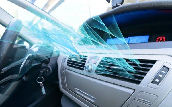 Svalka i bilen med AC