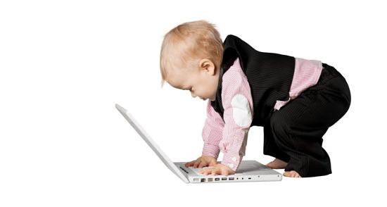 Bebis vid dator