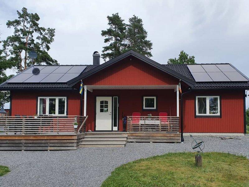 Solceller i Åkersberga.
